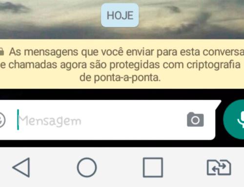 Mensagem de criptografia do Whatsapp