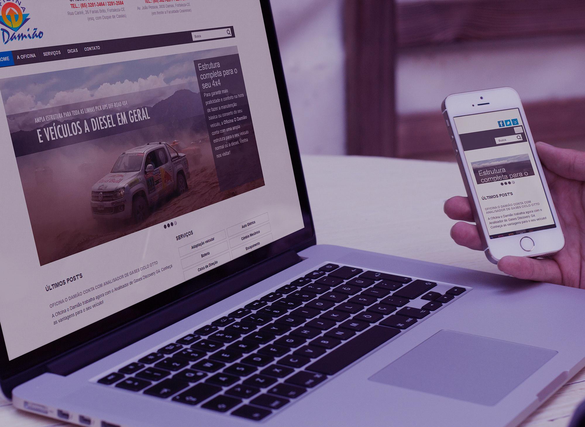 site-oficina-o-damiao-portfolio-criacao-sites-agencia-diretriz-digital-marketing