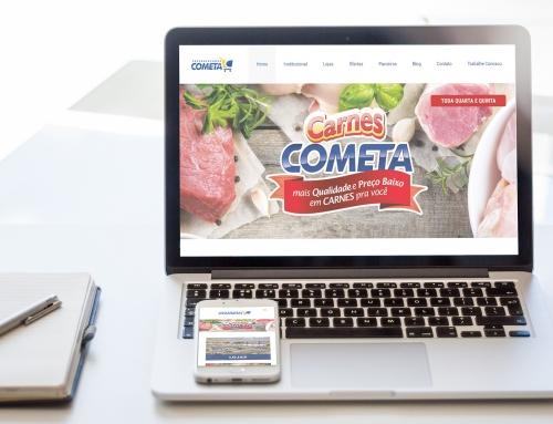 Site Cometa Supermercados